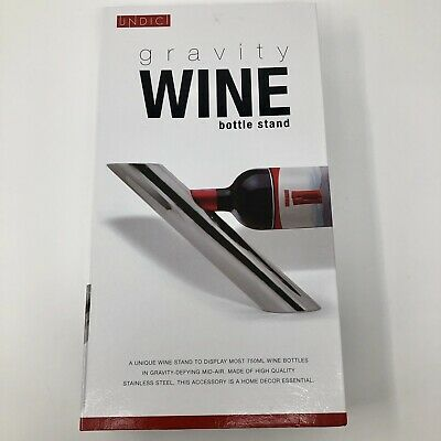 Undici Gravity Wine Bottle Stand Stainless Steel Single Free Standing Holder NEW