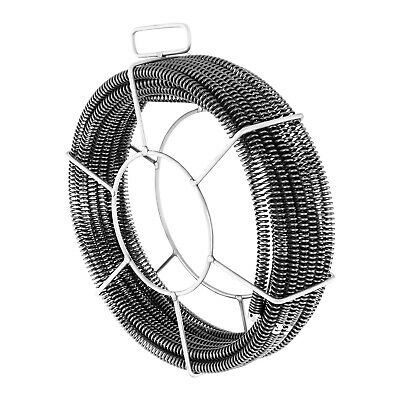 Spring Steel Manual Use Pipe Cleaning Snake Drain Cleaner Roll Basket