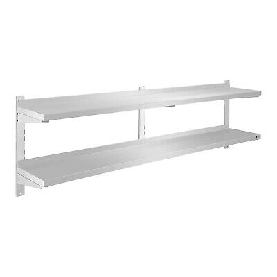 Shelving Unit Easy Assembly Heavy Load Stainless Steel Kitchen Wall Shelf