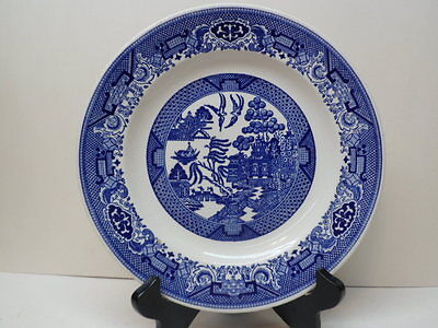 """USA Royal Blue Willow pattern 10"""" Dinner Plate"""