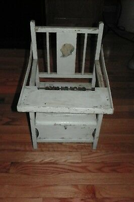 Vintage Vintage Wooden Child's Potty Chair