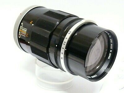 CANON 135MM F2 5 FAST TELEPHOTO LENS  THIS IS THE FL SERIES OPTIC FROM 1960s