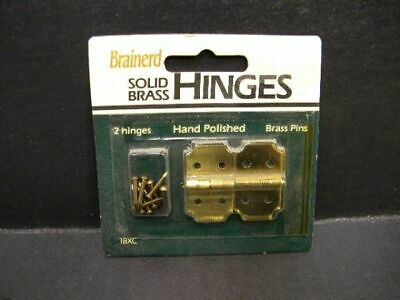 Brainerd 18XC Solid Brass Hinges (Furniture/Crafts/Cabinets/Woodwork/Hobby)