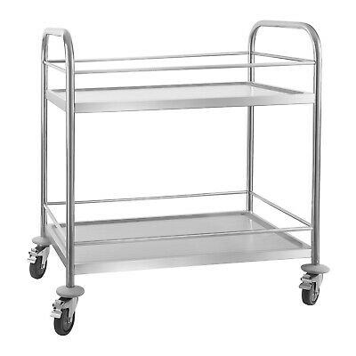 Gastro Catering Hotel Food Drinks Trolley Two Shelves Brakes And Noise Reduction