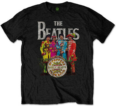 The Beatles 'Sgt Pepper' (Black) T-Shirt - NEW & OFFICIAL!