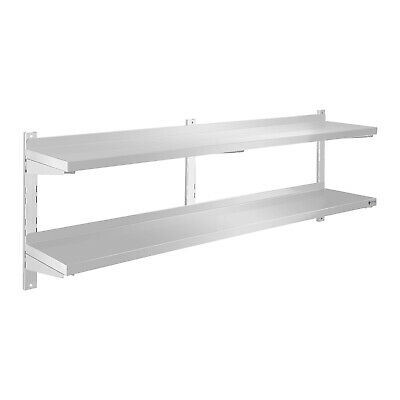 Storage Surface Gastro Stainless Steel 160Cm Shelf 2 Shelves Unit Stable