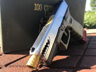 CUSTOM MILLED STAINLESS Glock 19 Slide With P-51 Style Slide Porting Gen 4
