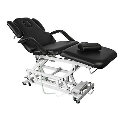 Manicure Chair Black Tattoo Table Therapy Bed Massage Treatment Pedicure
