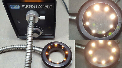 Luxo fiberlux 21V@150W,115V Fiber Optic Halogen Ring Light Illuminator. 4729070
