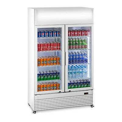 Drinks Fridge Commercial Glass Door Beer Wine Chiller LED Display Cooler 600L