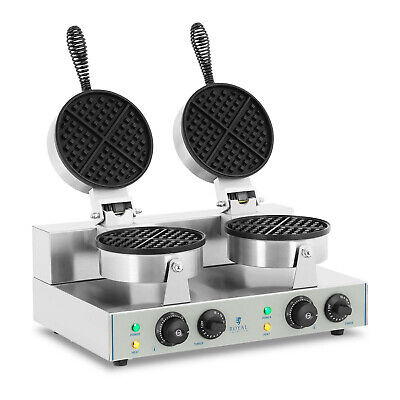 Maker Commercial 2600 W 300° C 8 Waffles Round Waffle Baker Grill Machine
