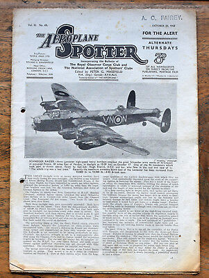 OLD  Magazine The Aeroplane Spotter  October 22nd 1942