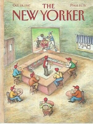 COVER ONLY ~The New Yorker ~ October 19 1987 ~ O'BRIEN ~ Baseball sports bar