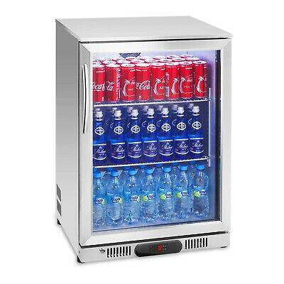 Glass Door Stainless Steel 138L Fridge Drinks Refrigerator Chiller Cooler