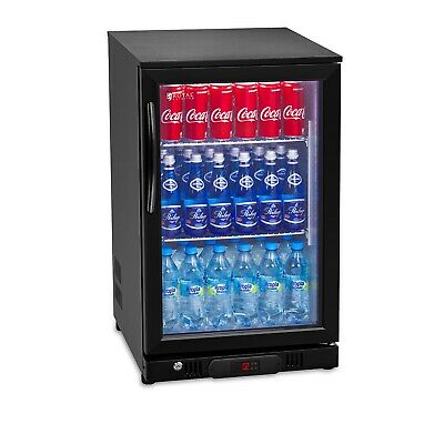 Fridge Minibar Fridge Glass Door 108L Fridge Drinks Fridge Cooler Bottle