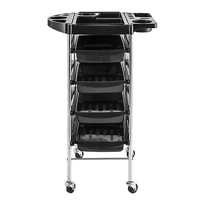 Drawers Professional Salon Use Steel Trolley Rolling Rack Mobile 5