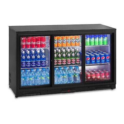 Door Beverage Cooler 323L Fridge Drinks Refrigerator Chiller Glass
