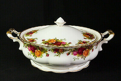 Royal Albert Old Country Roses Lidded Vegetable Tureen 1962-73 1st Quality