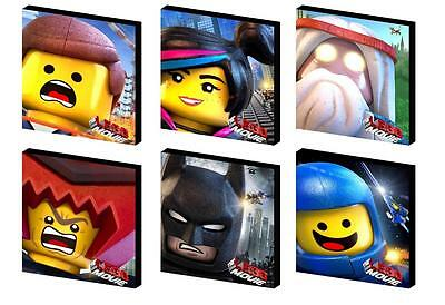 Lego Movie Character Set  Canvas Wall Art Plaque/Picture - You Choose 3