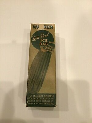 Vintage Walker Leek-PRUF Ice Bag In Original Box