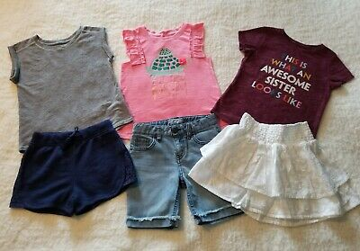 3c6d441fb16 GIRLS SIZE 5T & 4/5 Summer Cat & JACK LOT SPRING SHORTS & TOPS ...