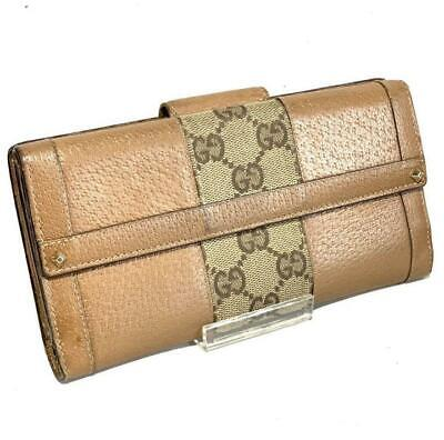 26acdcb11 Gucci Women's Long wallet 120928-3661 GG WG Canvas Studs Leather w/No box