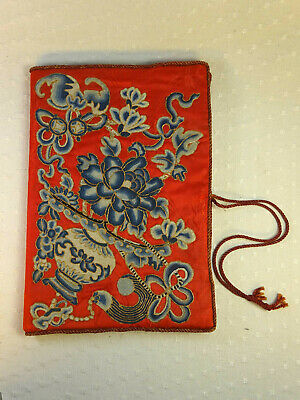 Super Fine Antique Chinese Embroidered Document Wallet Cover