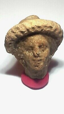 Ancient Roman head of statue sculpture 300 AD .very rare.