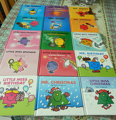 Roger Hargreaves Mr Men & Little Miss Sparkly HB Early Learner Reading Book x 15