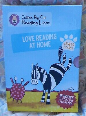 Collins Big Cat Reading Lions Boxed Set of 18 Books Level 1 - 3