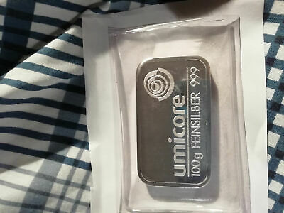 Umicore 100g Silver Bar .999 Silver ..,