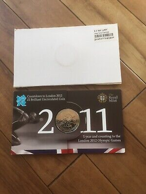 2011 Olympic Five Pound £5 Countdown Coin Uncirculated