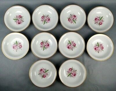 10pc Noritake China Soup Cereal Bowls Lot PInk Orchid Pattern