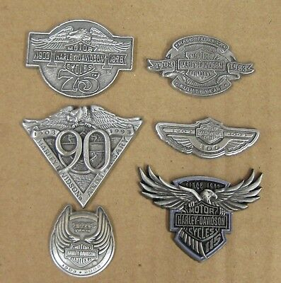 HARLEY DAVIDSON 75th - 115th ANNIVERSARY PIN SET