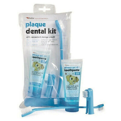 Petkin Plaque & Tartar Gel Toothpaste Dental Teeth Gums Kit for Dogs & Cats Pets