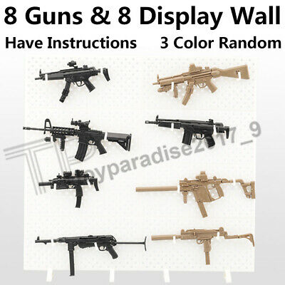 "1//6 Scale Modular Weapons Display Stand Wall Guns Rack Set F 12/"" Soldier Figure"