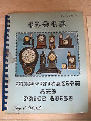 Clock Identification and Price Guide by Roy Ehrhardt 1977 4000 Clocks 150 Makers