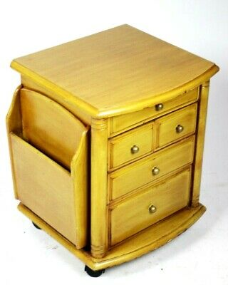 Vintage Retro Ash Chest of Drawers with Magazine Racks [PL5004]