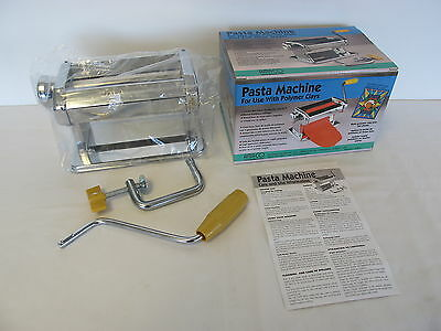 Amaco Craft Clay Pasta Machine For Use with Polymer Clay & Soft Metal Sheets NIB