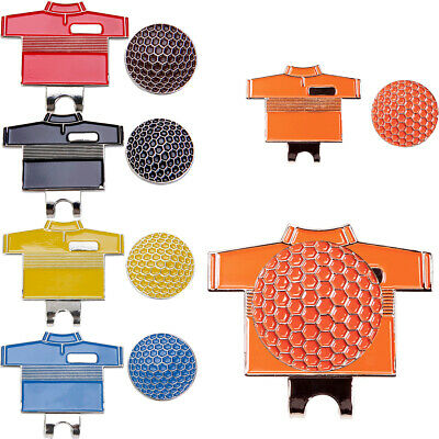 Magnetic Golf Shirt Pattern Hat Clip Golf Ball Marker Golf Enthusiast Gifts