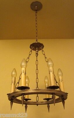 Vintage Lighting three antique 1920s Spanish Revival chandeliers