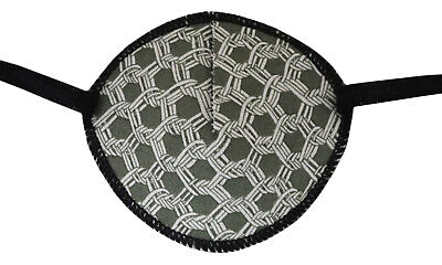 Eye Patch, GREY MESH, Soft and Washable, for right or left eye