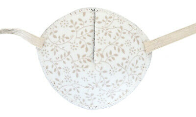 Medical Eye Patch, BEIGE LEAVES, Soft and Washable, sold to the NHS