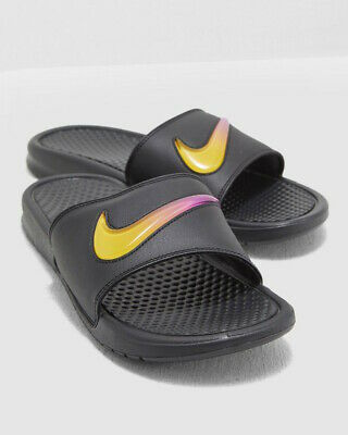 reputable site 0736e d0196 Nike Flip Flops Beach Pool Shower Rubber Sandals Slippers Black BENASSI JDI  SE