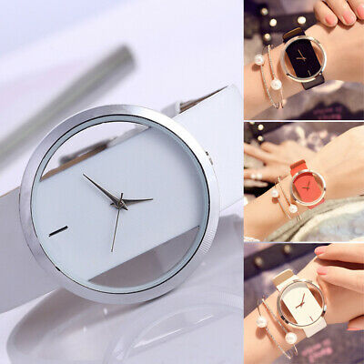 Classic Fashion Elegant Girl Women's Casual Quartz Watch Leather Wrist Watches