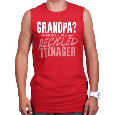 Grandpa Recycled Teenager Fathers Day Gift Sleeveless Tshirt Tank Top For Men