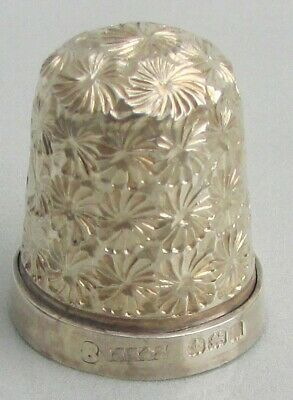 S/Silver Thimble Plus One Other with Steel Core No 8 Silver & No 10 Dorcas by CH