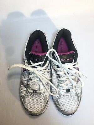 203a0a0fd4e8b PRE-OWNED CHAMPION GUSTO GRAY PINK Athletic Sneaker Shoes Girls Size ...