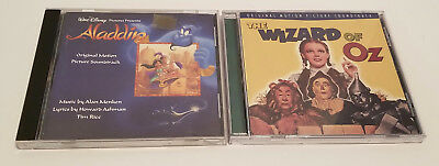 Lot of 2 Original Motion Picture Soundtrack CD's The Wizard of Oz and Aladdin