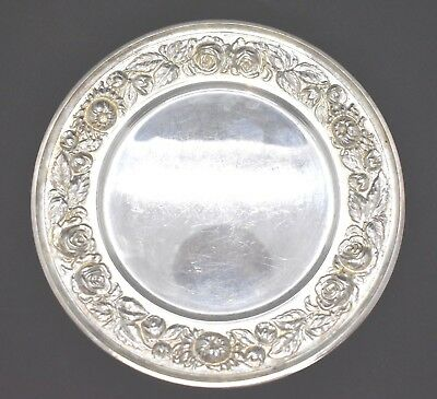 "Stieff Rose Sterling Silver Set Of 8 Bread And Butter Plates 6 1/4"" Super Shape"